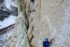 "Anna Pfaff following the fourth pitch of ""Dreamline"""