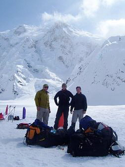 Kahiltna Base Camp - Mt. Hunter in the background