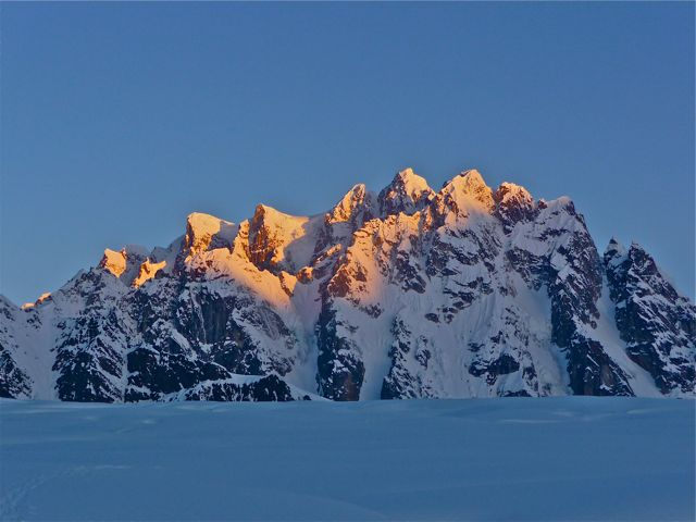 Sunrise on the Rooster's Comb