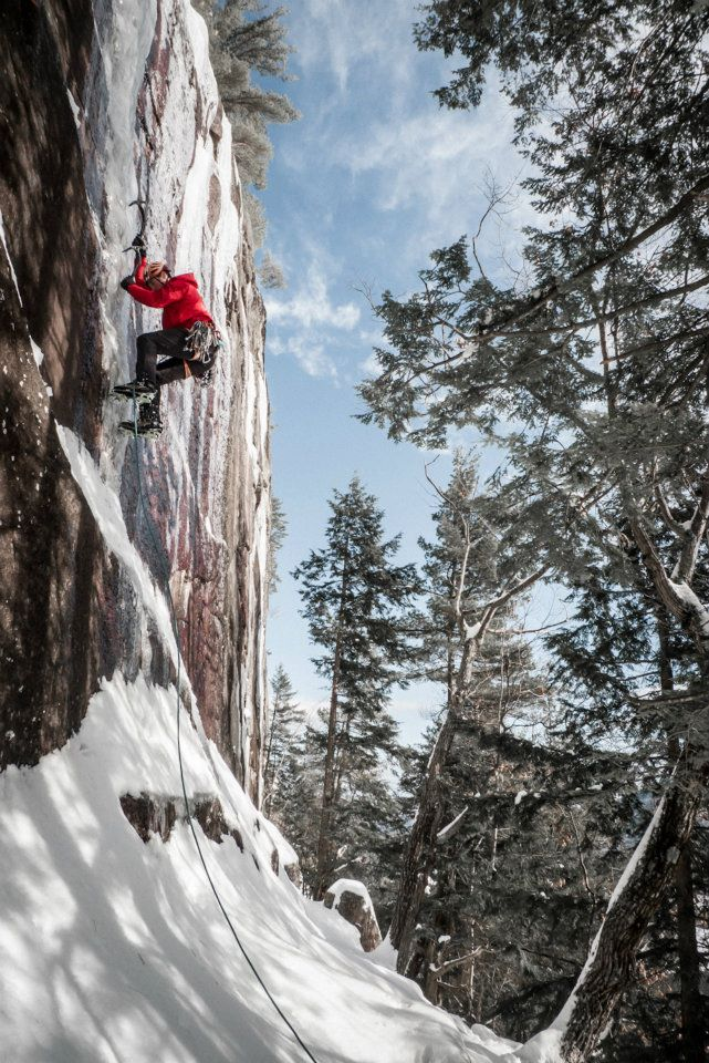 Peter Doucette, Barber Wall, Cathedral Ledge NH