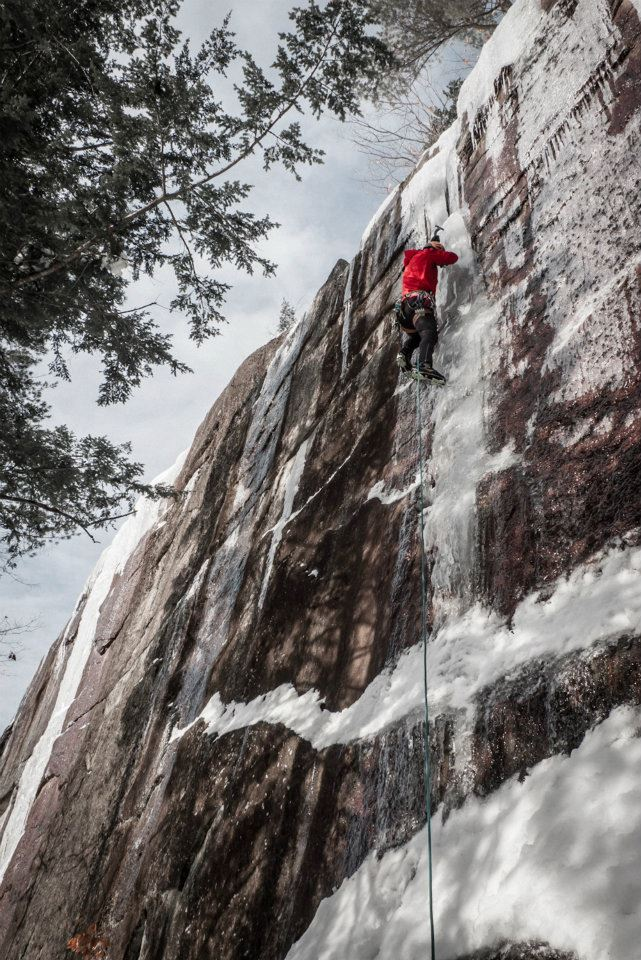 Peter Doucette, Barber Wall 2, Cathedral Ledge NH