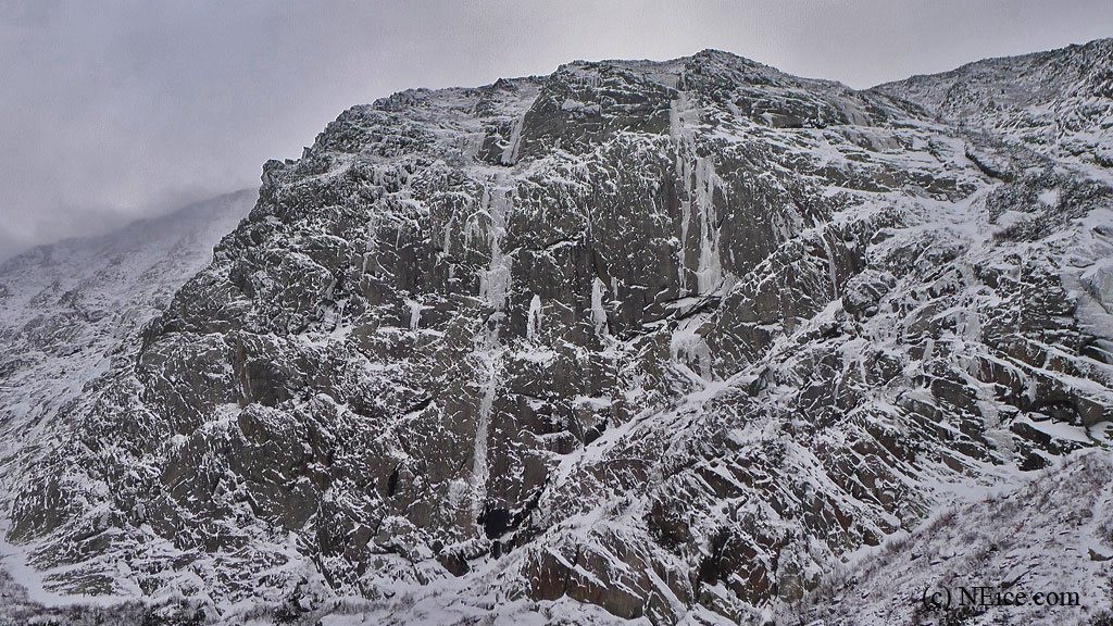 The Tabor Wall - Early season in Baxter State Park