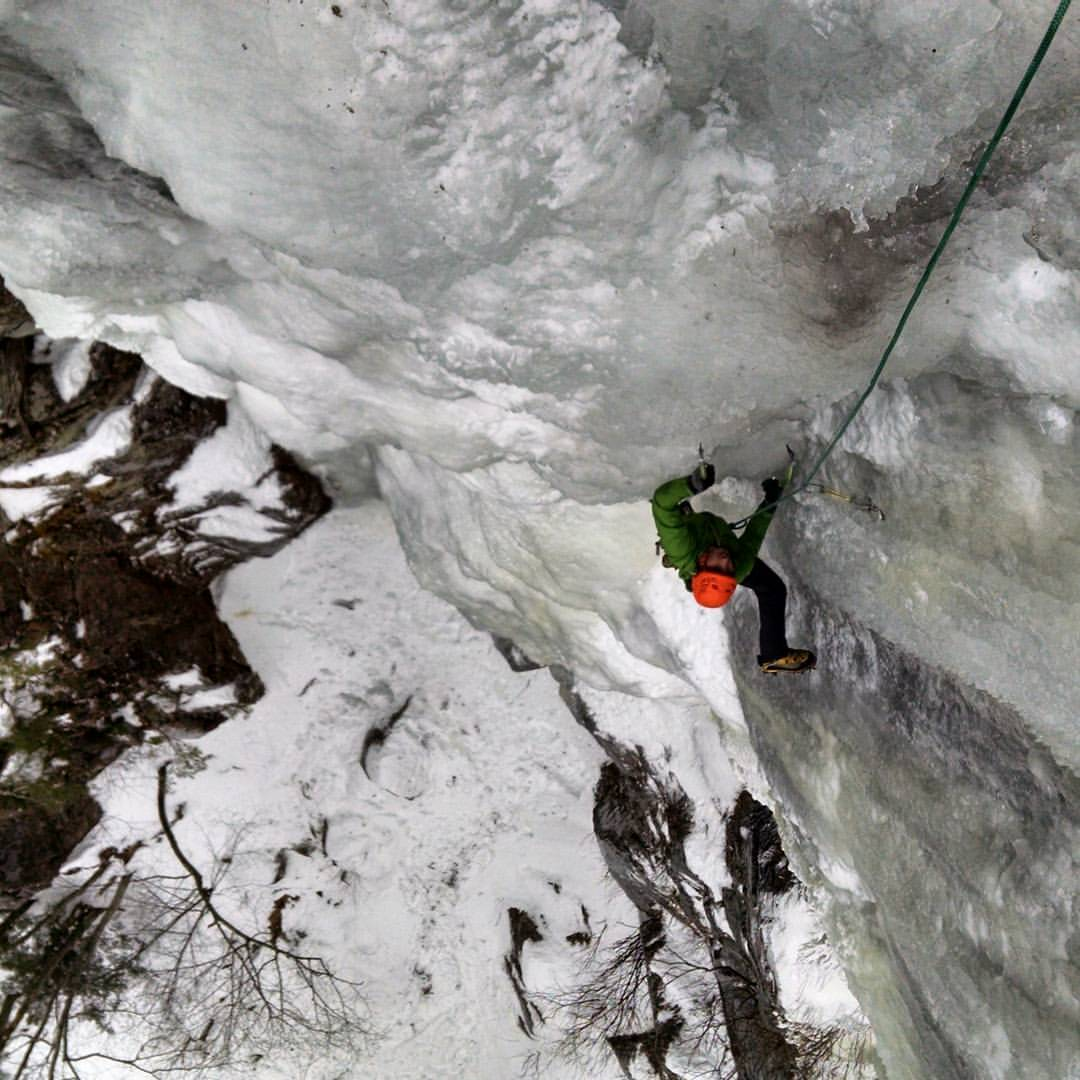 Cathedral Mountain Guides December 21 · Ice climbing is back! It's looking pretty good up in Crawford Notch - Frankenstein, Mt Willard and Mt Webster are all pretty icey right now. Here is CMG's Jake Job on a pretty steep, early season Dracula. Yeah!