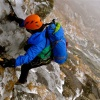 Doug Millen Climbing early season ice