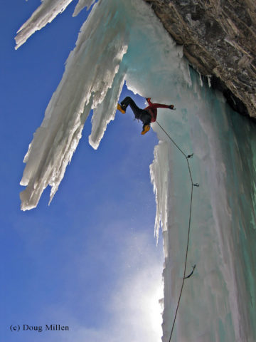 Yan Mongrain on a variation of Le Tube, Pont-Rouge Quebec.